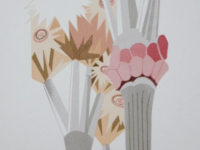 """Sil""""Gaudi #3""""  Silkscreen   11 x 14"""