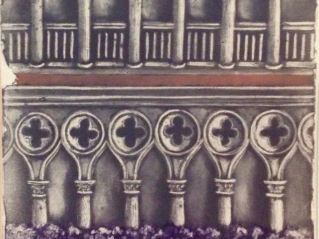 """""""Venetian Facade"""" Mezzotype"""